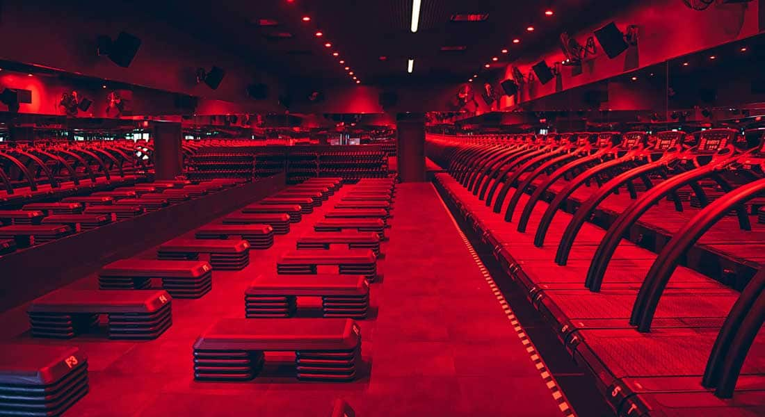 The Red Room at Barry's Bootcamp in The Works
